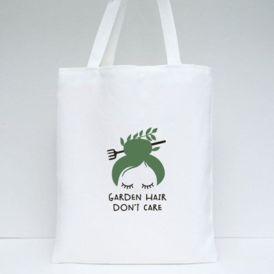 Garden Hair Don't Care Tote Bags