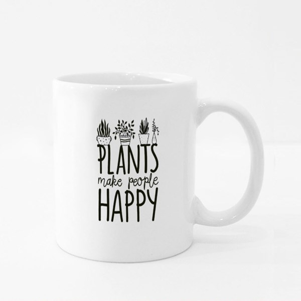 Plants Make People Happy Colour Mugs