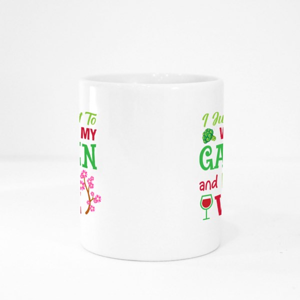 Work at Garden and Drink Wine Colour Mugs
