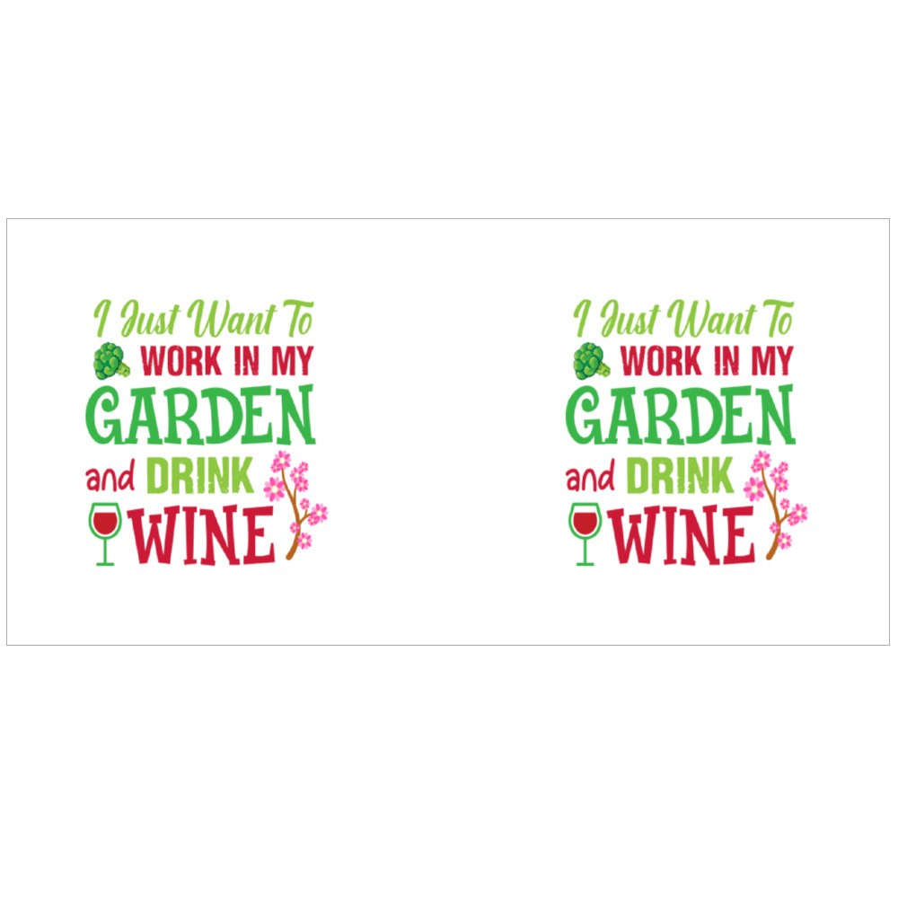 Work at Garden and Drink Wine Magic Mugs