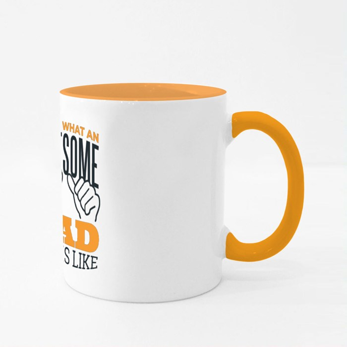 Awesome Dad Quote Colour Mugs