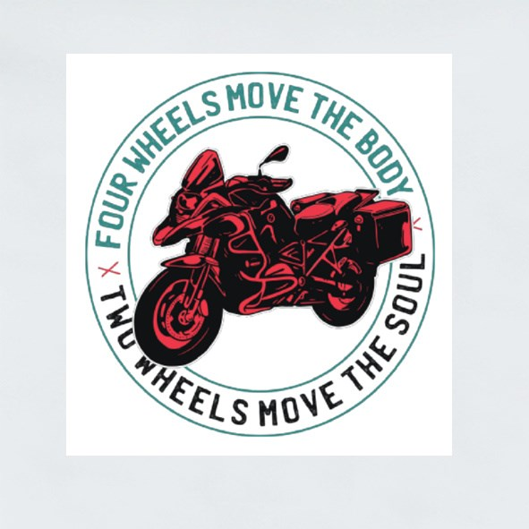 Two Wheels Quote Stickers (Square)