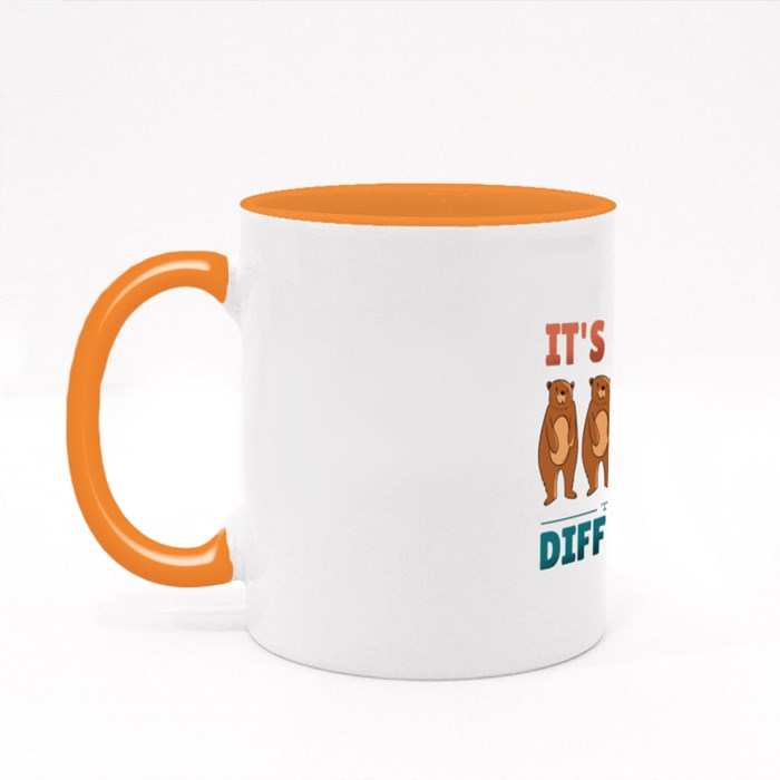 Different Bears Quote Colour Mugs