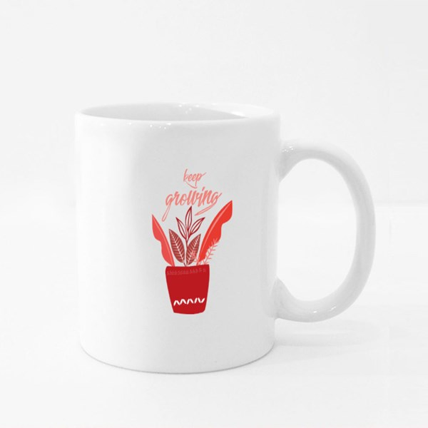Keep Growing Plant Colour Mugs