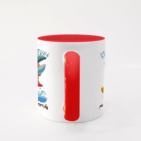 Ride the Waves. Colour Mugs