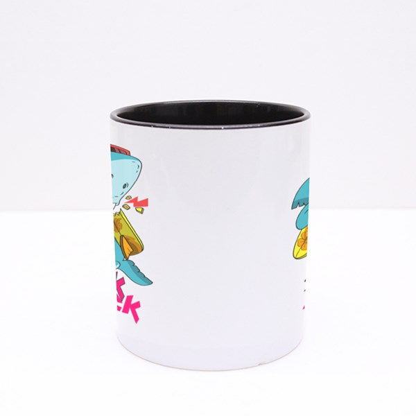 Shark Surfing Attack Colour Mugs