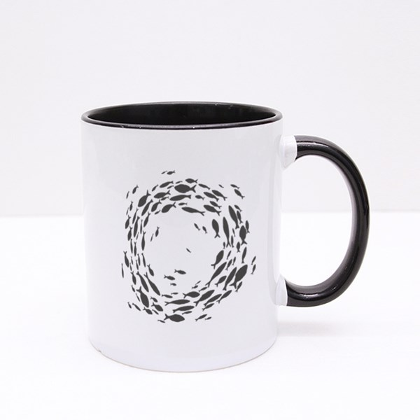 Fish Swim in a Circle Colour Mugs
