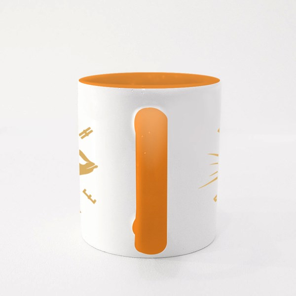 Fish Bone Sign. Colour Mugs
