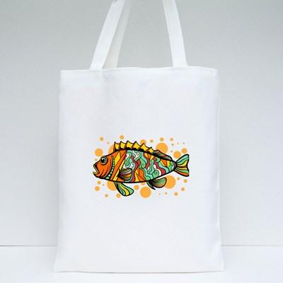 Pop Art Style Fish Tote Bags