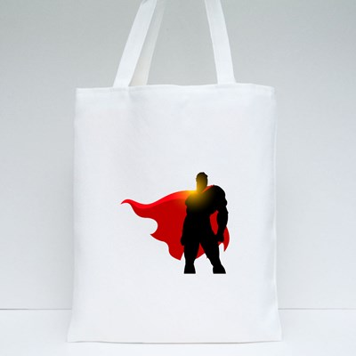 Silhouette of Superman Tote Bags