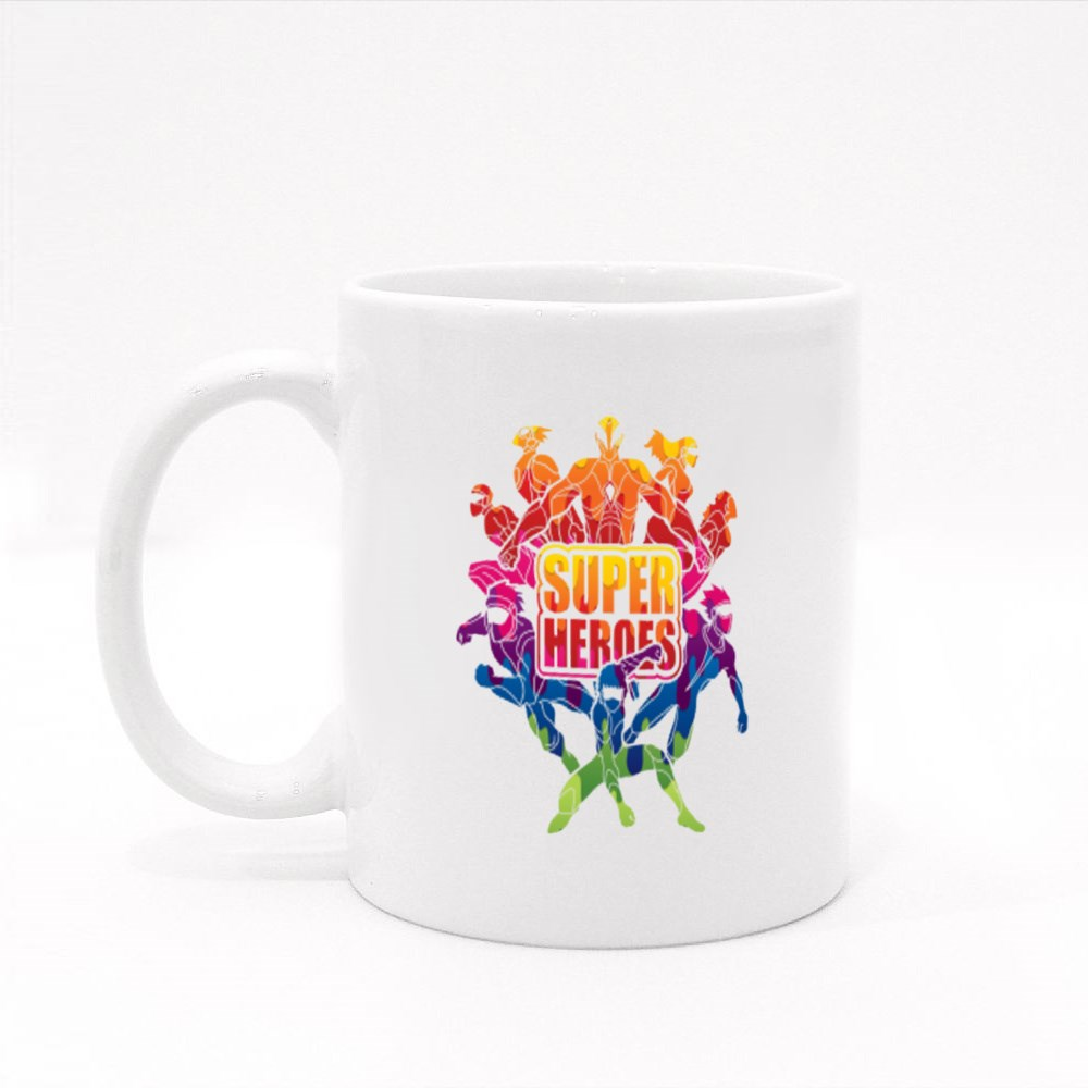 Group of Super Heroes Colour Mugs