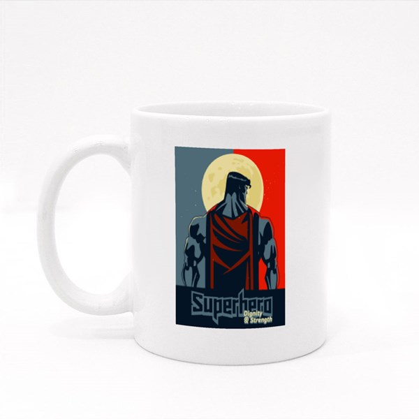 Superhero Dignity and Strenght Colour Mugs