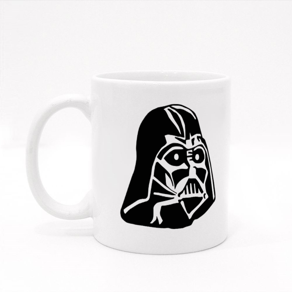 Darth Vader Head Colour Mugs