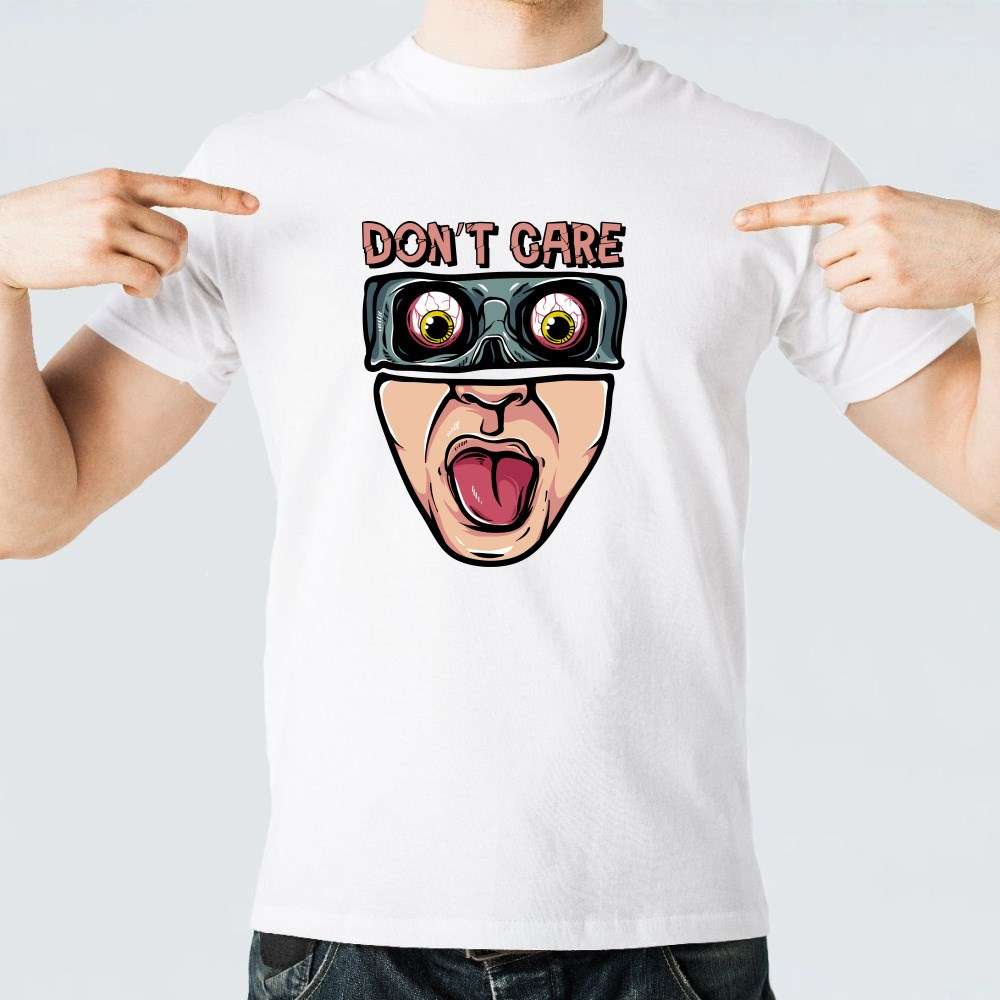 Spooky Don't Care Face T-Shirts