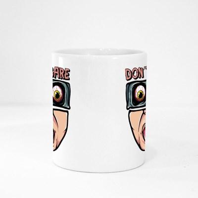 Spooky Don't Care Face Magic Mugs