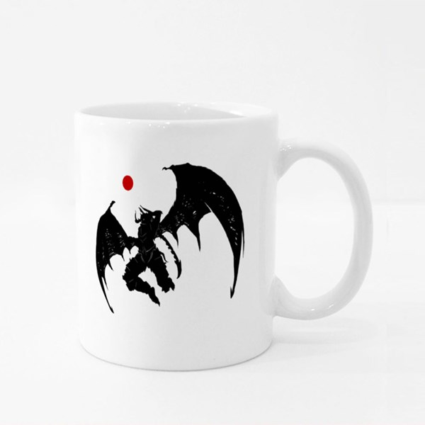 Mighty Demon With Jagged Sword Colour Mugs
