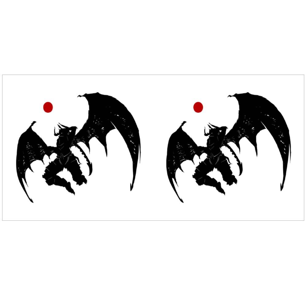 Mighty Demon With Jagged Sword Magic Mugs