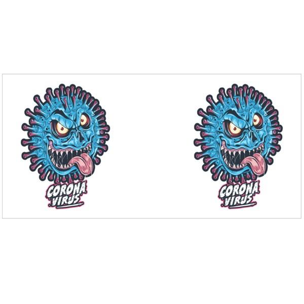 Corona Virus Monster Colour Mugs