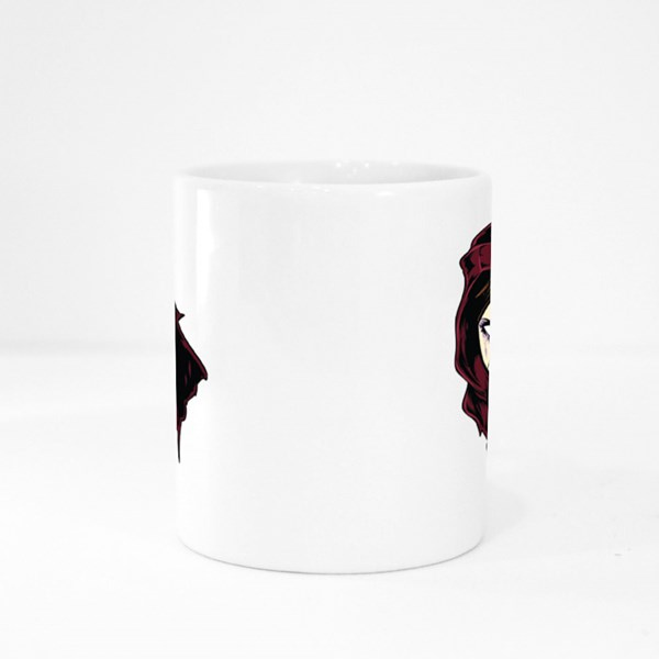 Frowning Evil Girl Colour Mugs
