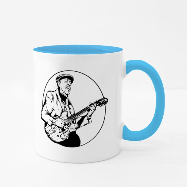 Veteran Play Electric Guitar Colour Mugs