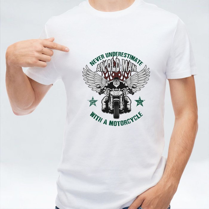 Never Underestimate an Old Man T-Shirts