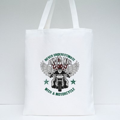 Never Underestimate an Old Man Tote Bags