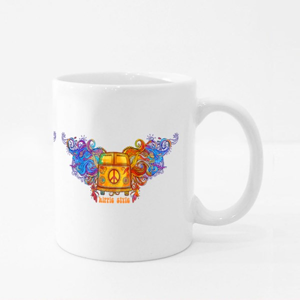 Vintage Hippie Car Colour Mugs