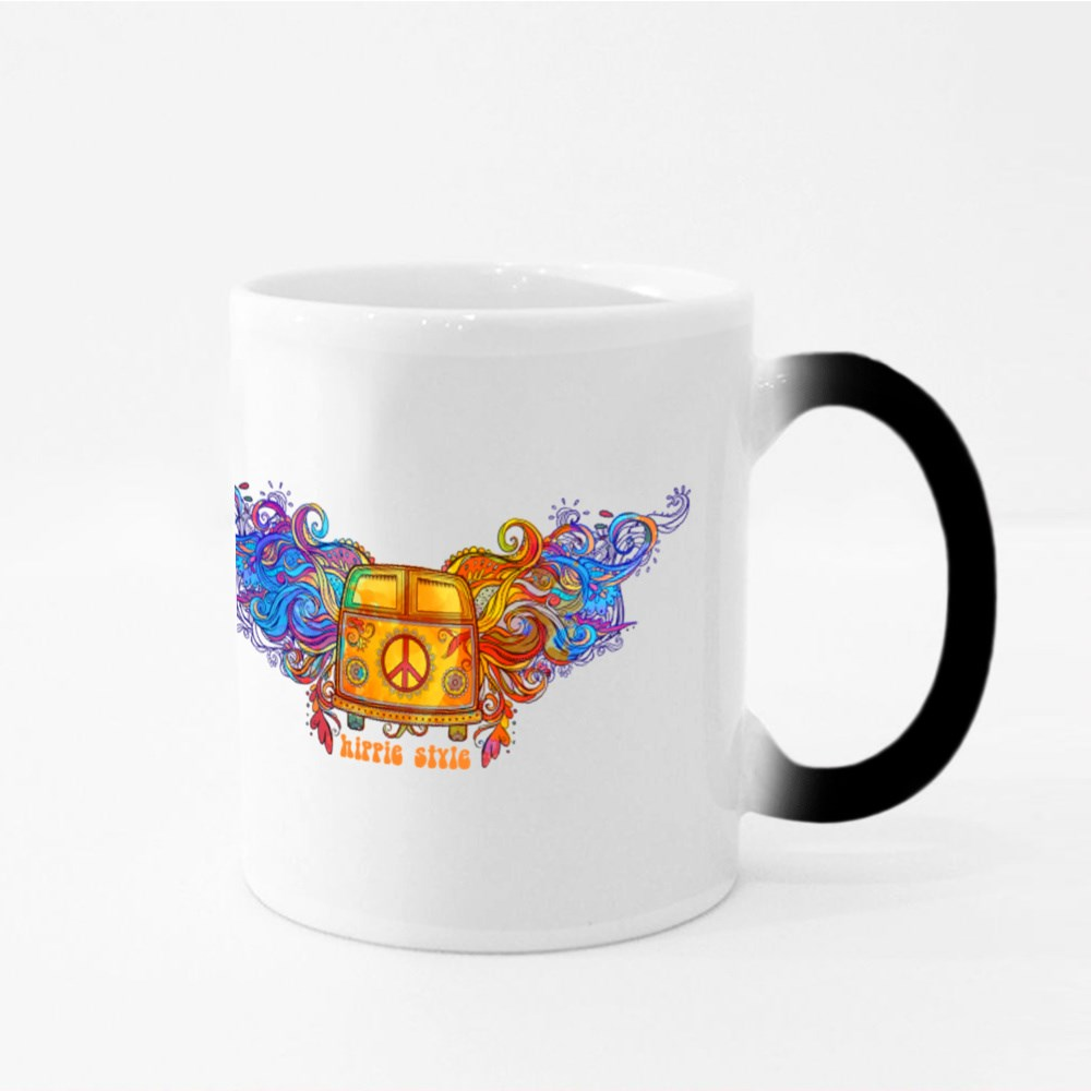 Vintage Hippie Car Magic Mugs