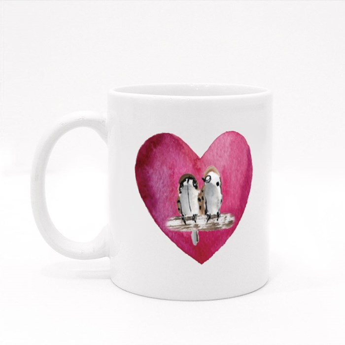 Birdie Love Colour Mugs