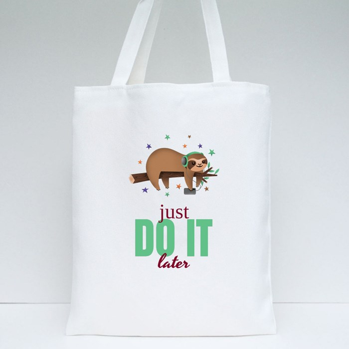 Just Do It Later Tote Bags