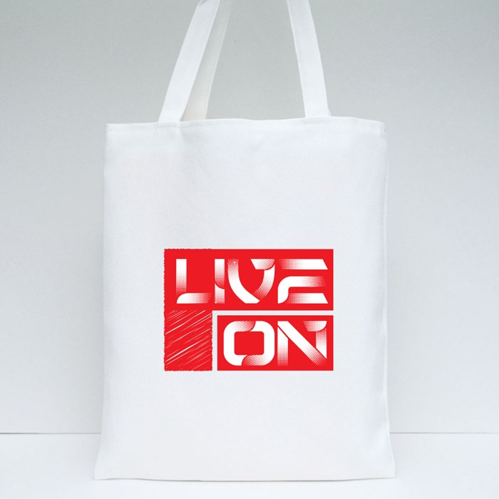 Live On Tote Bags