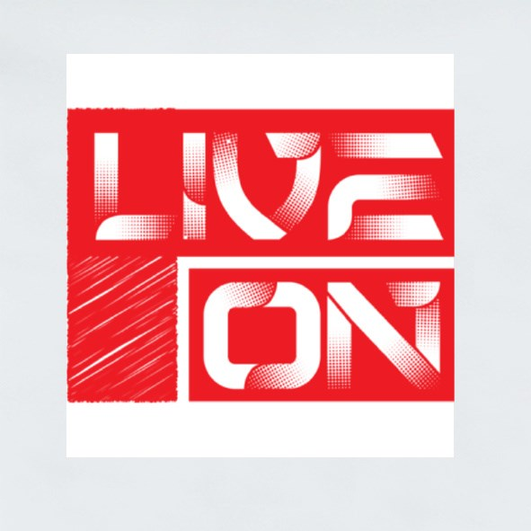 Live On Stickers (Square)