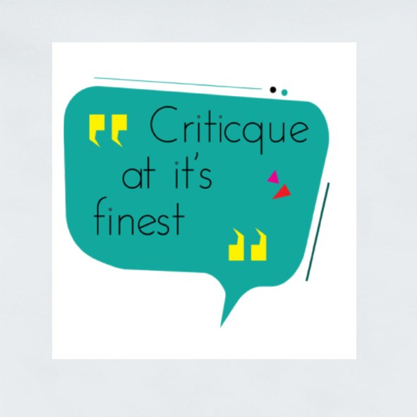 Critic at Its Finest Stickers (Square)