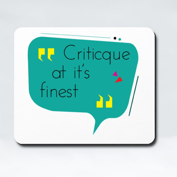 Critic at Its Finest Mousepads (Rectangle)