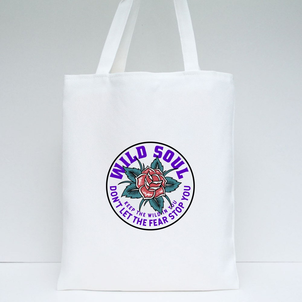 Don't Let the Fear Stop You Tote Bags
