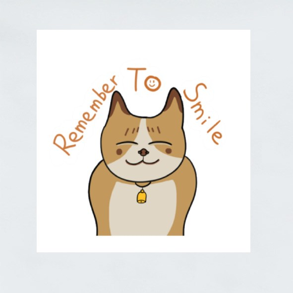 Remember to Smile Stickers (Square)