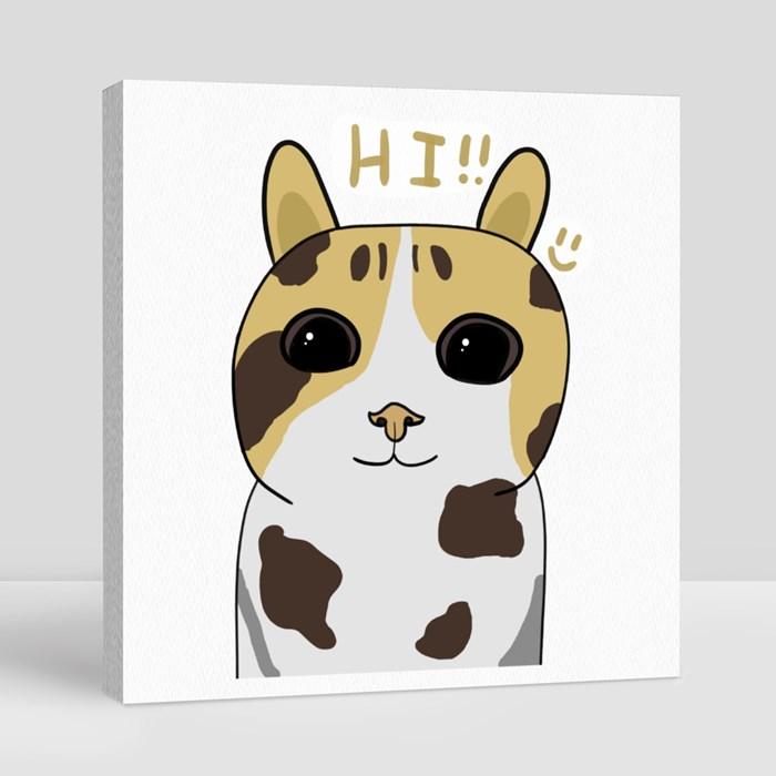 Hi! Canvas (Square)