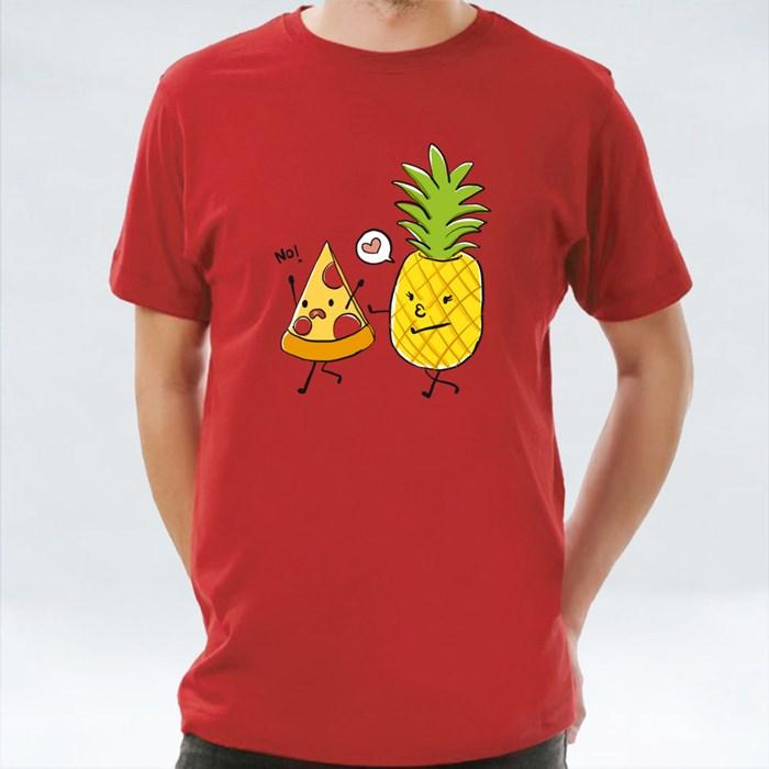 Pineapple Love Kissing Pizza T-Shirts
