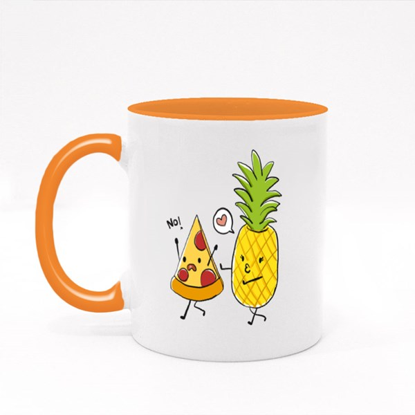 Pineapple Love Kissing Pizza Colour Mugs