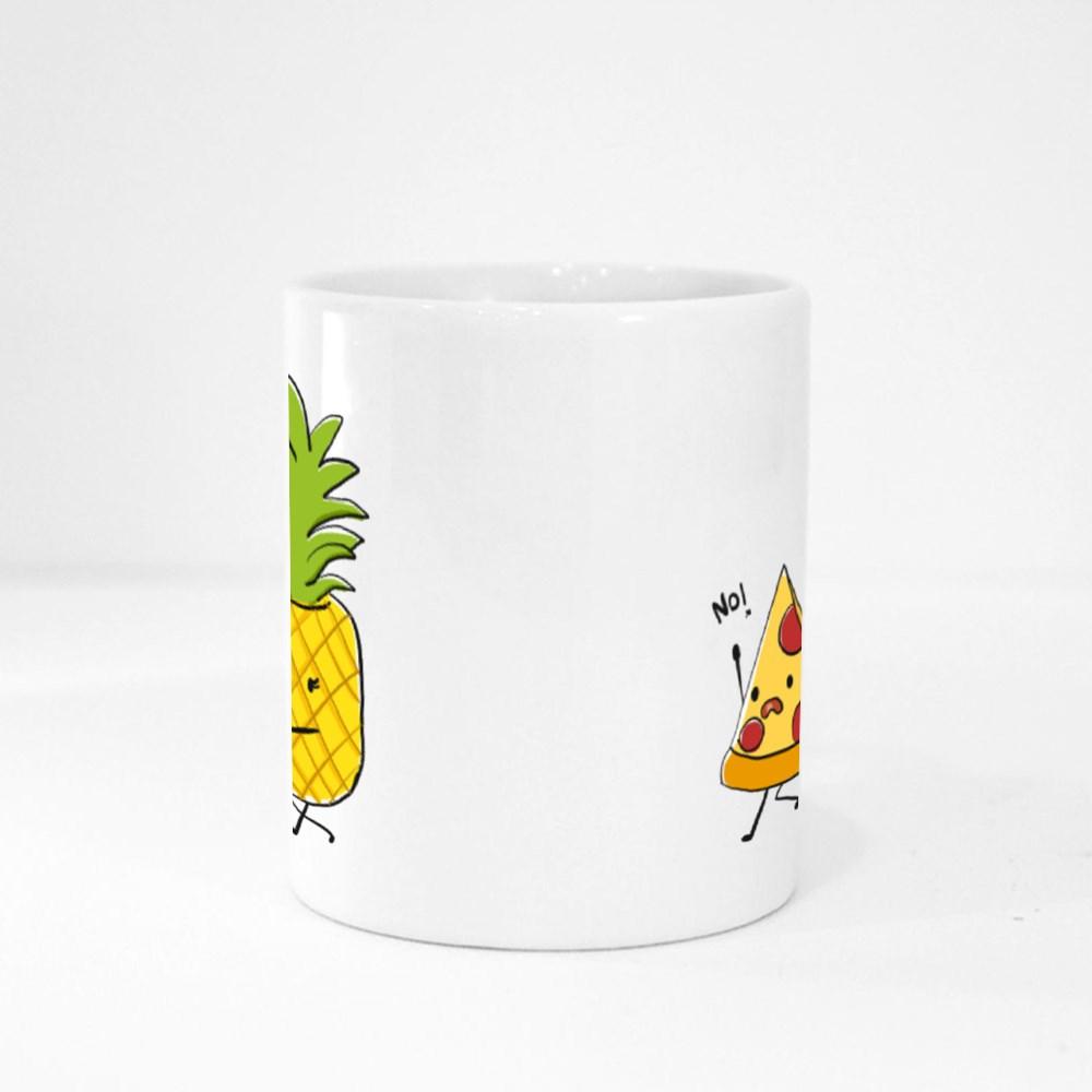 Pineapple Love Kissing Pizza Magic Mugs