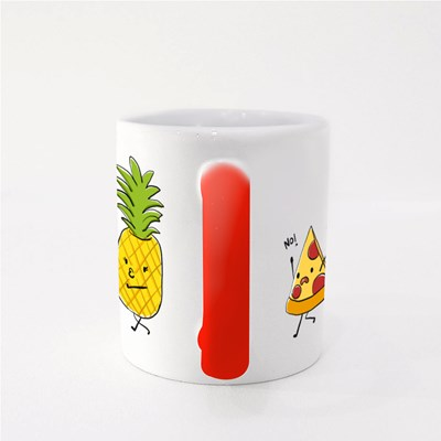 Pineapple Love Kissing Pizza Magic Mugs