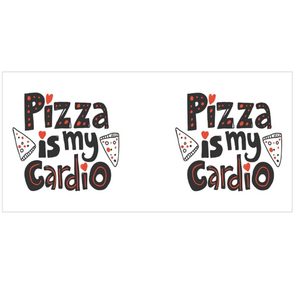 Pizza Is My Cardio Colour Mugs