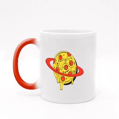 Pizza in Planet Style Magic Mugs