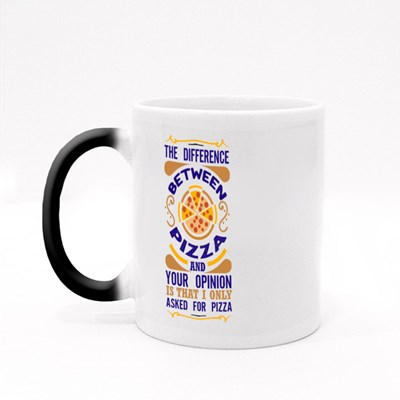 Pizza and Your Opinion Magic Mugs