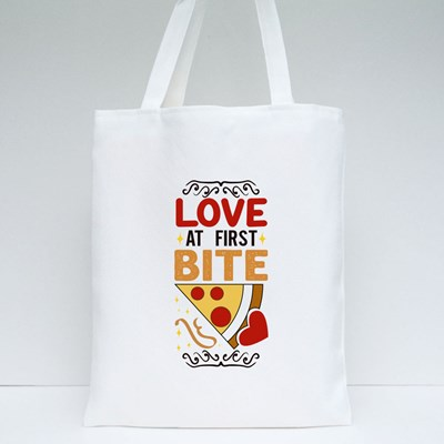 Love at First Bite Tote Bags