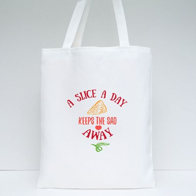 A Slice a Day of Pizza Tote Bags