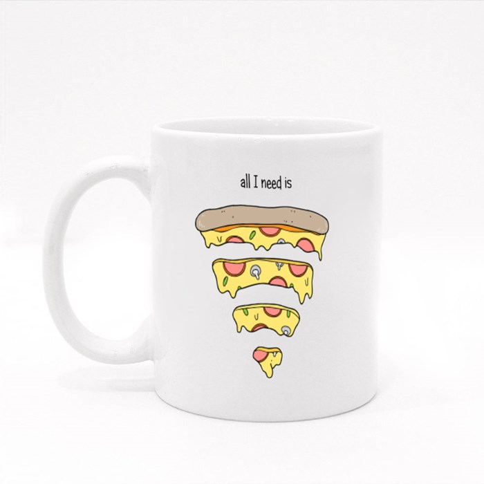 All I Need Is Pizza Colour Mugs