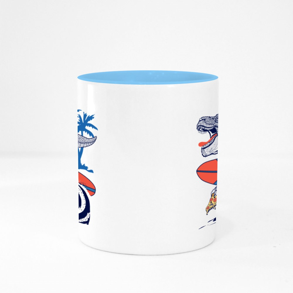 Cool Life Surf and Pizza Colour Mugs