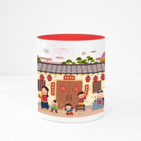 New Year in Siheyuan Colour Mugs