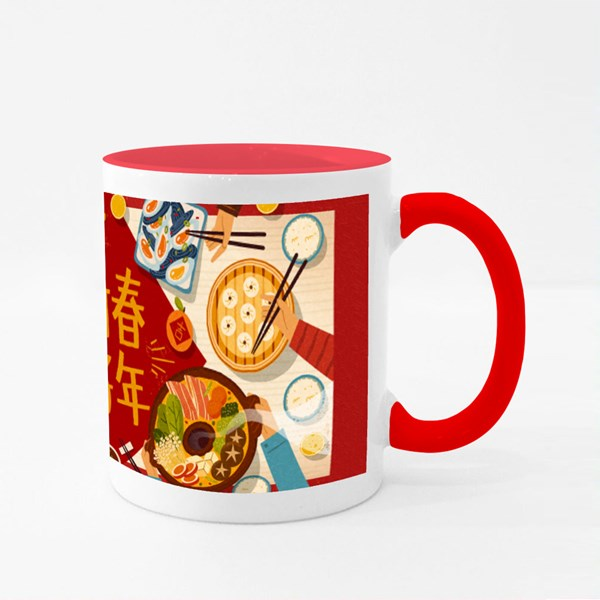 Happy Chinese New Year Reunion Colour Mugs